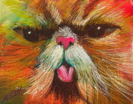 """Get rid of the dog!"" original fine art by Jeff Leedy"