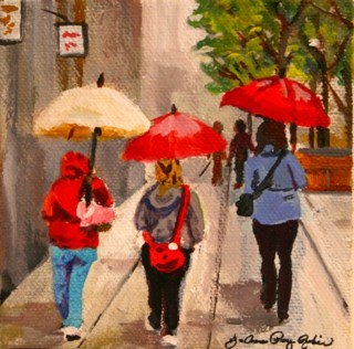 """""""Shelter From the Storm"""" original fine art by JoAnne Perez Robinson"""