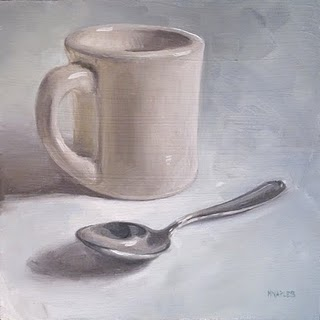 """Coffee Time"" original fine art by Michael Naples"