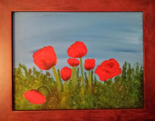 """Poppies"" original fine art by Donna Vieth"