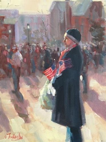 """An Ordinary American"" original fine art by Nancy Tankersley"