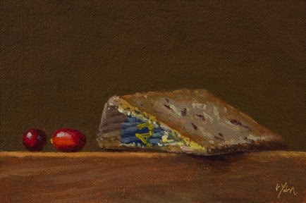 """Two Cranberries with Valdeón Blue (Made in Spain)   (+ Certificates)"" original fine art by Abbey Ryan"