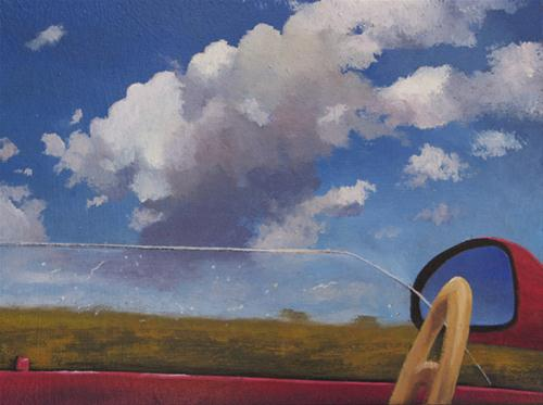 """TOP DOWN & FM"" original fine art by Gerald Schwartz"