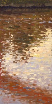 """Schuylkill River Reflections at Sunset"" original fine art by Abbey Ryan"