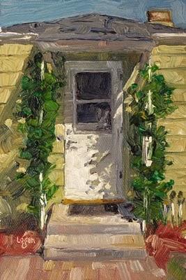 """The Back Door"" original fine art by Raymond Logan"