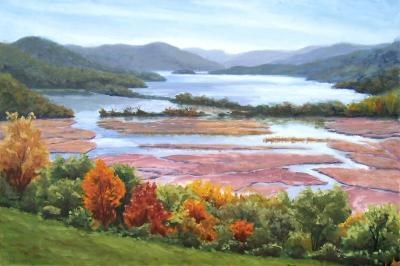 """Boscobel Overview 24×36″"" original fine art by Jamie Williams Grossman"