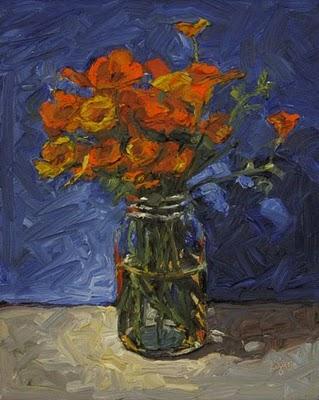 """California Poppies"" original fine art by Raymond Logan"