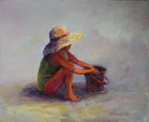 """Child's Play Figurative Paintings by Arizona Artist Amy Whitehouse"" original fine art by Amy Whitehouse"