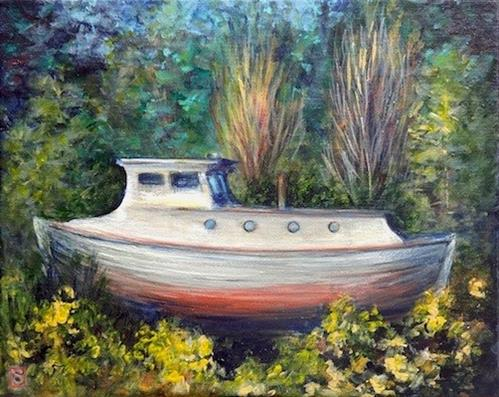 """4084 - The Old Boat"" original fine art by Sea Dean"