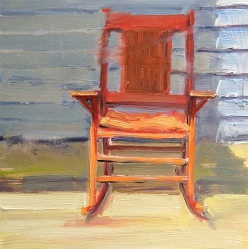 """""""Red Rocker"""" original fine art by Deborah Newman"""