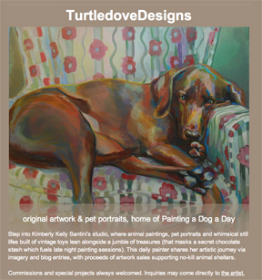 """TurtledoveDesigns, a Grand Reopening"" original fine art by Kimberly Santini"