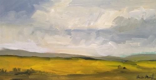 """Yellow Field"" original fine art by Pamela Munger"