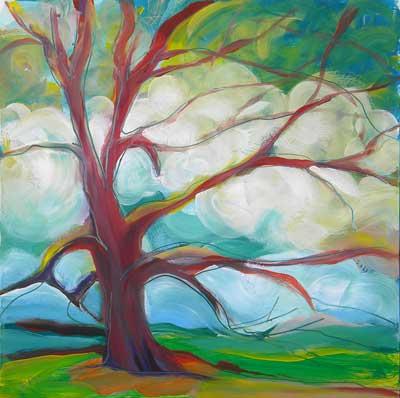 """""""Park Trees 5"""" original fine art by Pam Van Londen"""