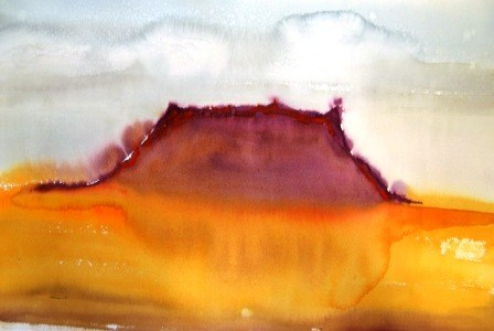 """Storm Over the Mesa"" original fine art by Nancy Hall"