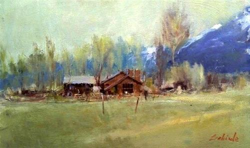 """Colorado ranch"" original fine art by Richard Schiele"