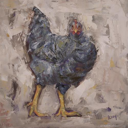 """Chicken Scratch - Framed"" original fine art by Kathleen Coy"