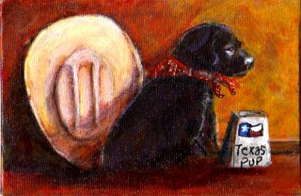"""Texas Pup"" original fine art by Barbara Lemley"