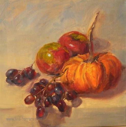 """Fall Harvest"" original fine art by Lina Ferrara"