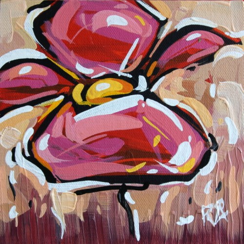 """""""Flower Abstraction 126"""" original fine art by Roger Akesson"""