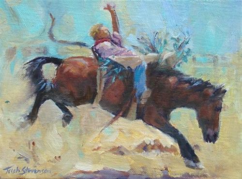 """Bareback Bay"" original fine art by Trish Stevenson"
