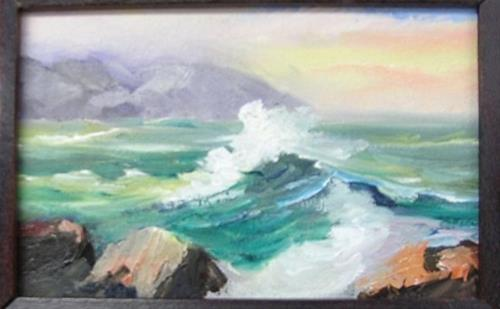 """Miniature Seascape"" original fine art by Barbara Haviland"