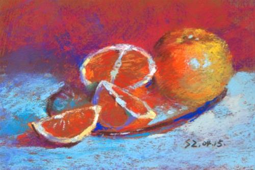 """Oranges"" original fine art by Sabrina Zhou"