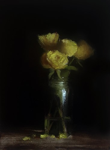 """Yellow Roses"" original fine art by Neil Carroll"