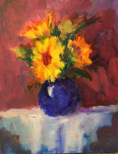 """Old World Floral, Floral Paintings by Arizona Artist Amy Whitehouse"" original fine art by Amy Whitehouse"