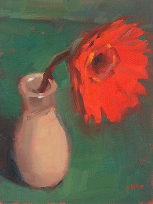 """Mopey Red"" original fine art by Carol Marine"
