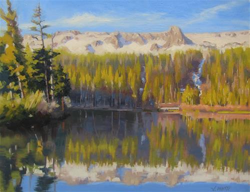 """""""Twin Lakes"""" original fine art by John White"""