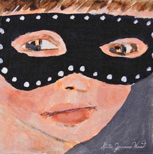 """""""Masquerade Mask No 14"""" original fine art by Katie Jeanne Wood"""