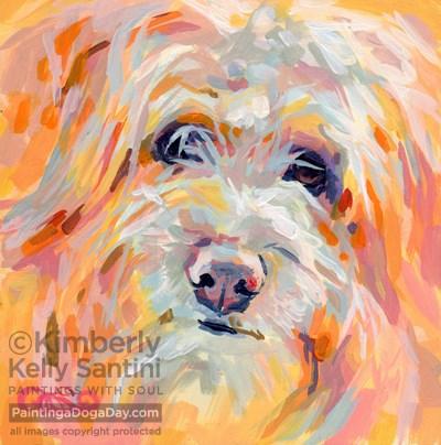 """Beamer"" original fine art by Kimberly Santini"