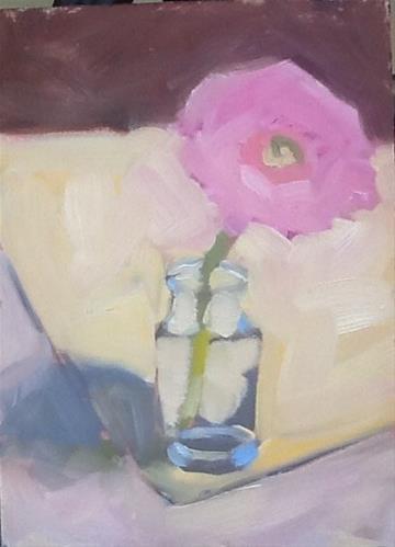 """""""One Flower"""" original fine art by Elizabeth Bish"""