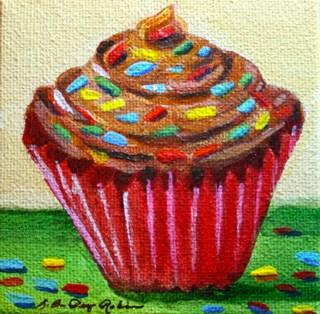"""Chocolate Top"" original fine art by JoAnne Perez Robinson"