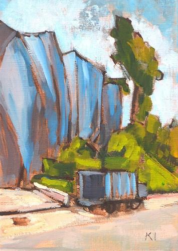 """Termite Tent, Hillcrest"" original fine art by Kevin Inman"