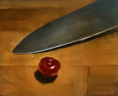 """Intimidated Cherry"" original fine art by Michael Naples"