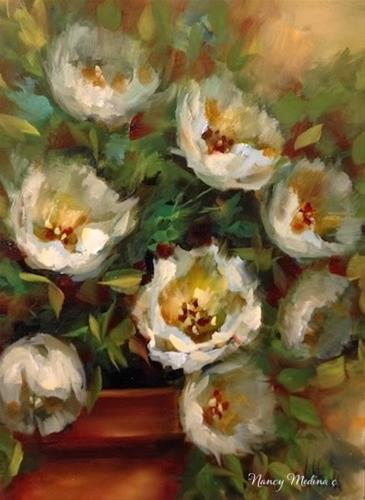"""Wind Tossed Tulips and How to Tell When a Dream Comes True by Floral Artist Nancy Medina"" original fine art by Nancy Medina"