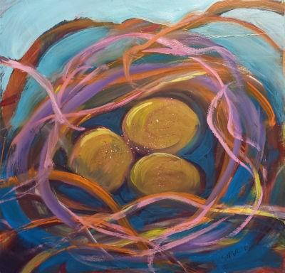 """""""Nest of Prosperity 5.2"""" original fine art by Pam Van Londen"""