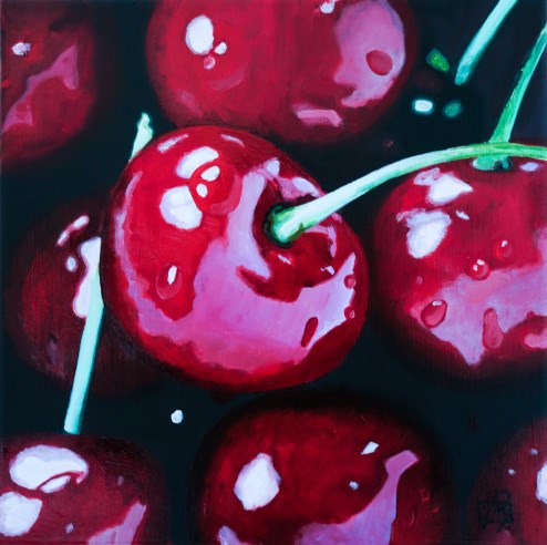"""Oh Cherry Cherry"" original fine art by Andre Beaulieu"