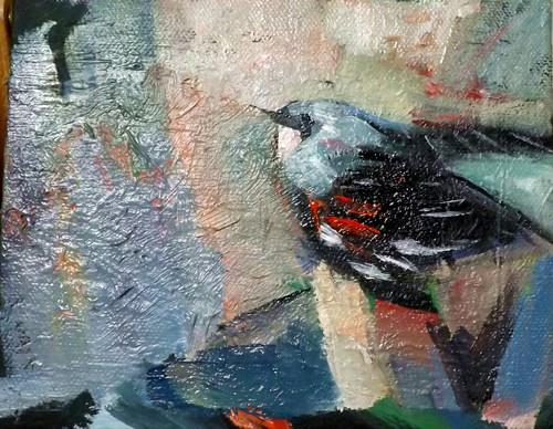 """BIRD,N14"" original fine art by Run-      Zhang Zane"