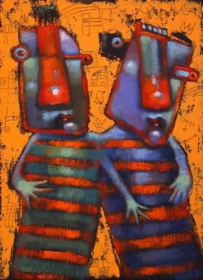 """Double Trouble"" original fine art by Brenda York"