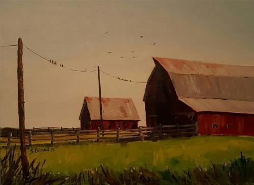 """Jan Perchant Barn"" original fine art by Steve Gibson"
