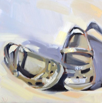 """Fancy Crocs"" original fine art by Jessica Green"