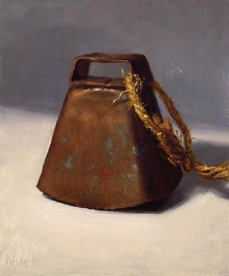 """Copper Cowbell"" original fine art by Abbey Ryan"