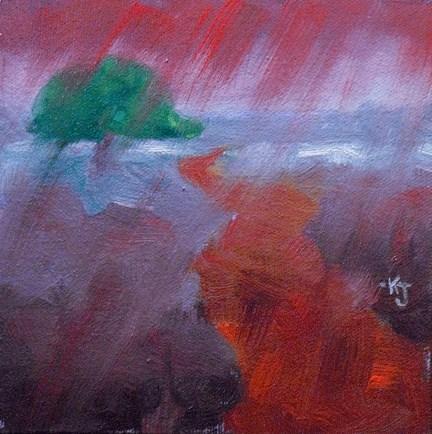 """""""#30 Lone Oak, Manna from Heaven"""" original fine art by Kathy Johnson"""