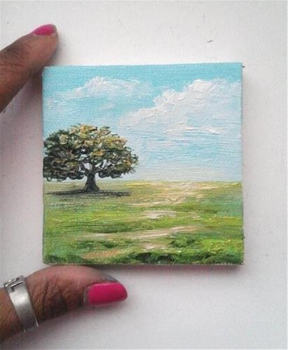 """Lone Tree"" original fine art by Camille Morgan"