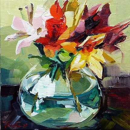 """""""Lilien"""" original fine art by Jurij Frey"""