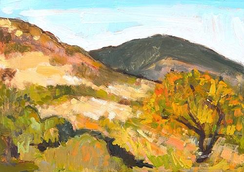 """Mission Trails Plein Air"" original fine art by Kevin Inman"