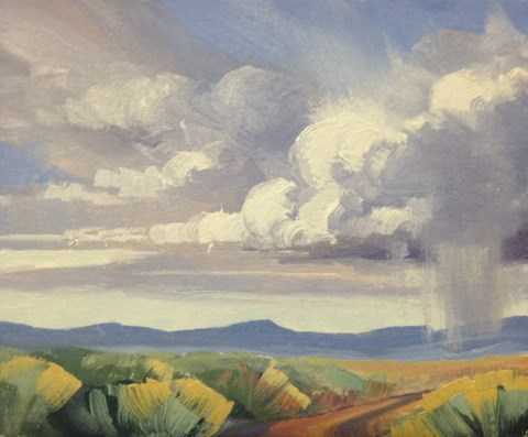 """Valley Storms"" original fine art by Mary Jabens"