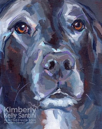 """Boutros"" original fine art by Kimberly Santini"